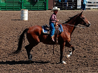 Juniors barrel racing Helmville Montana Rodeo