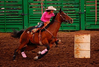 Ladies barrel racing Helmville Montana Rodeo