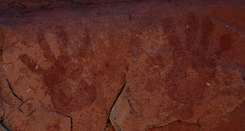 Red Rock Canyon National Conservation Area Nevada Calico Hills pictographs