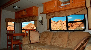 View out our RV window