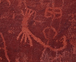 Scorpion petroglyph on the Atlatl Rock panel
