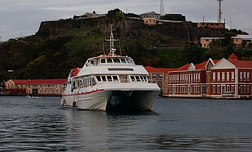 Osprey Ferry Lines boat in St. George's harbor Grenada