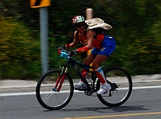 Wonder Woman cyclist