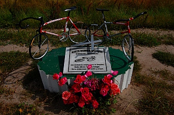 Cyclist's memorial near Ensenada