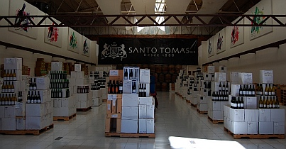 Inside the Ensenada tasting room for the Santo Tomas winery