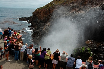 La Bufadora (the Blow Hole) erupts