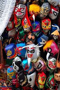 Masks for sale at La Bufadora, Ensenada