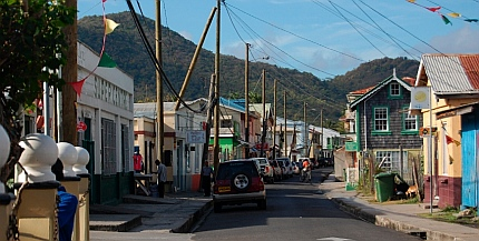 Hillsborough Carriacou Grenada town streets.