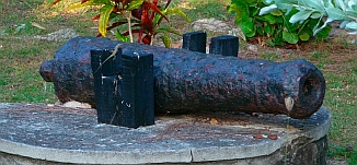 A cannon from the olden days