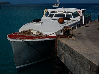Our ferry boat to Union Island, SVG