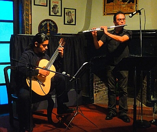 Classical guitar and flute concert, Centro cultural Riviera