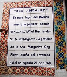 History of where the Margarita was invented.