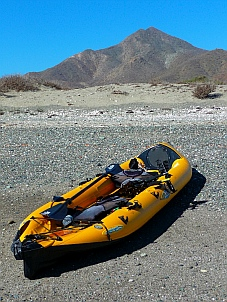 Kayak at Punta Belcher, Magdalena Bay