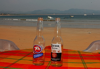 Beers on the beach - Bahia de Chamela.