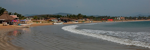 Beautiful long sweeping beach in Bahia de Chamela (Chamela Bay).