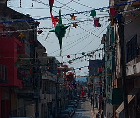Old town Manzanillo, Colima, Mexico