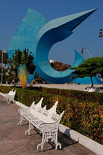 Sailfish sculpture, Manzanillo, Colima, Mexico