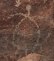Petroglyphs, Playa el Burro, Bahia Coyote in Bahia Concepcion, Sea of Cortez, Mexico
