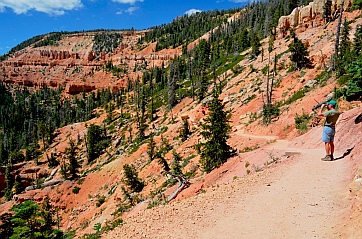 Red rock scenery, Cascade Falls hike, Dixie National Forest, Utah