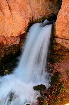 The waterfall on Cascade Falls hike, Dixie National Forest, Utah