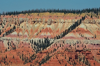 Red rock views at Cedar Breaks National Monument, Utah