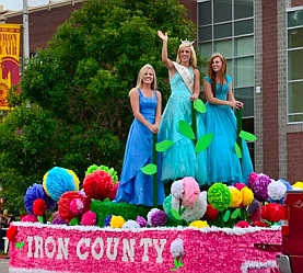Miss Iron County and her attendants, Iron County Fair Parowan, Utah