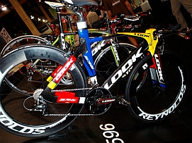 Fancy racing bikes at Interbike.