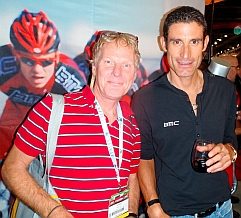 Mark got to pose with George Hincapie.