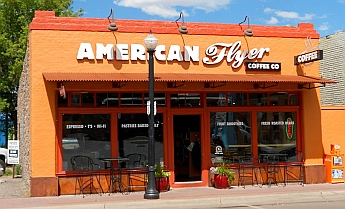 American Flyer in Williams, Arizona combines coffee and cycling, a great match.