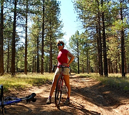 Mountain biking Kaibab National Forest.