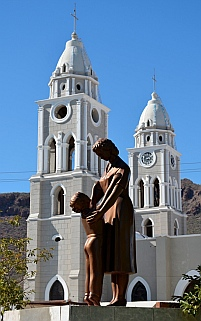 The cathedral in Guaymas, Mexico