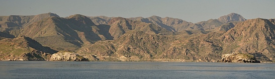 Sea of Cortez islands, mountains and peninsulas blend into each other.