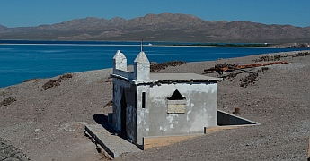 Chapel on Isla Coyote, BCS, Sea of Cortez, Mexico.