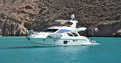 Charter boat at Puerto Balandra, BCS, Sea of Cortez, near La Paz, Mexico