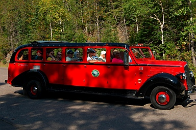 Red limo tours at Glacier National Park