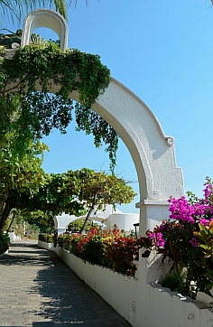 Curved archways at Las Hadas Resort, Manzanillo, Mexico