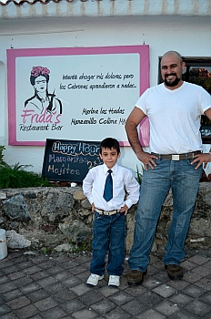 Augutsín and son León of Frida's restaurant, Las Hadas, Manzanillo Mexico