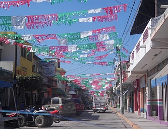 Cihuatlan Christmas decorations Costa Alegre (Gold Coast) Mexico