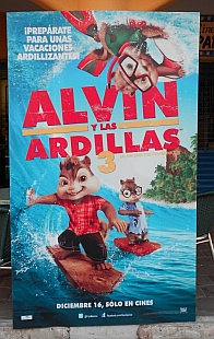 Alvin and the Chipmunks movie poster in Z-town.