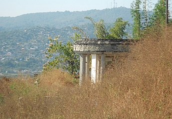Overgrowth at Arturo Durazo's Parthenon in Zihuatanejo, Mexico.