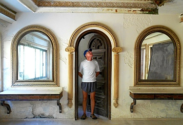 Bedroom mirrors in Arturo Durazo's Parthenon in Zihuatanejo, Mexico.