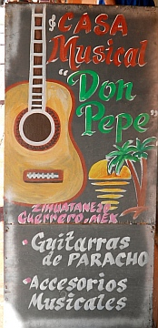 Pepe's music store in Zihuatanejo, Mexico.