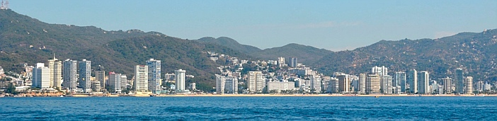 Highrises on Acapulco's main beach.