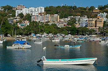 Looking across Acapulco's inner harbor.