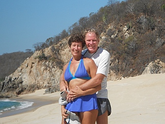 Emily & Mark at Playa San Agustin (Puerto Sacrificios), Bays of Huatulco, Oaxaca, Mexico