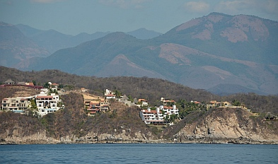 Views looking towards Huatulco.