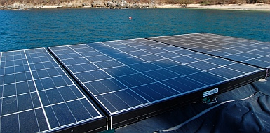 Sailboat Solar Installing Solar Panels And An Arch On A Boat