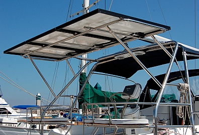 Sailboat solar panel system design and installation