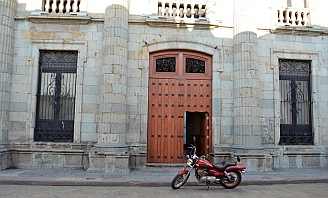 Door-within-a-door is a major theme in the architecture of Oaxaca, Mexico