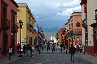 Colonial walking streets of Oaxaca.